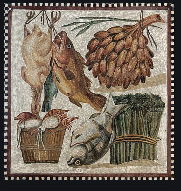 Roman food mosaic